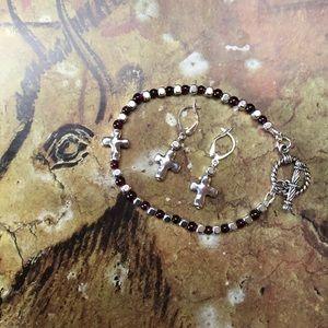 Casey Keith Design Jewelry - Your Garnet Cross Bracelet